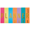 Agenda 2021 Mooving Pocket Cosida Golden Rainbow Planner