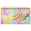 Agenda 2021 Mooving Pocket Espiralada Pastel Dreams
