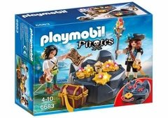 Playmobil 6683 Piratas Con Tesoro - Original