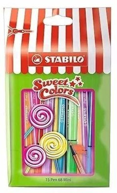 Mini Marcadores Stabilo Pen 68 X15 1 Mm - Woopy