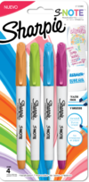 Sharpie S-Note Resalta Y subraya x4