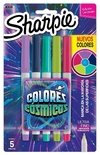 Blister Sharpie x5 Colores Cósmicos ultrafino