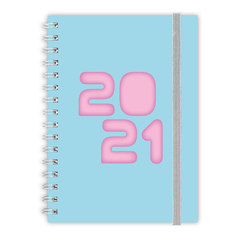 AGENDA 2021 CANGINI FILIPPI A5 SEMANAL COLOR PASTEL - Woopy