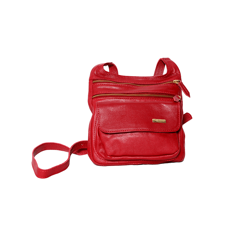 f8ebb6c14 Bolsa de couro média ANDANZA Vermelha 1447.94.07