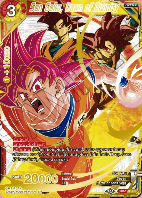 BT8-109 Son Goku Malicious Machinations Dawn Of Divinity Super Rare SR
