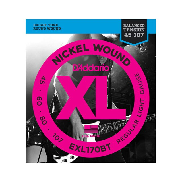 Encordoamento Baixo D`Addario EXL170BT .045 4 cordas Regular Light