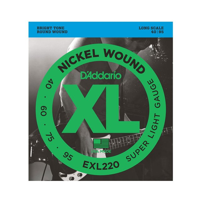Encordoamento Baixo D`Addario EXL220 .040 Super Light 4 cordas