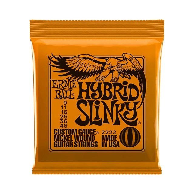 Encordoamento Guitarra Ernie Ball 2222 .009 Hybrid Slink na internet