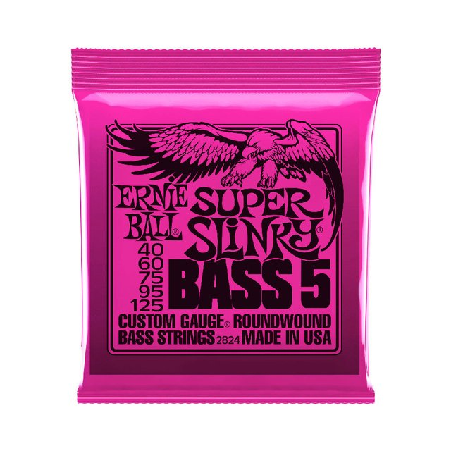 Encordoamento Baixo Ernie Ball 2824 .040 Super Slink 5 cordas