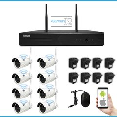 Kit Seguridad 8 Camaras Inalambricas Wifi Nvr Hd Disco 1tb