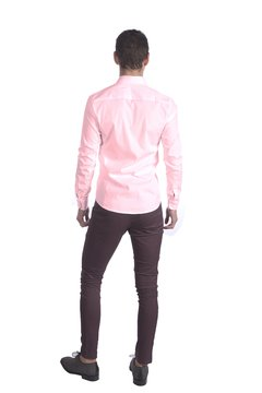 Camisa lisa skinny Fit Rosa en internet