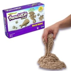 Areia de Modelar Kinetic Sand 283g Marron Natural