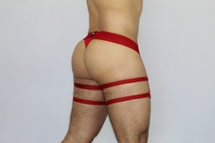 Thong Panties Two Garders - Poly Cire - online store