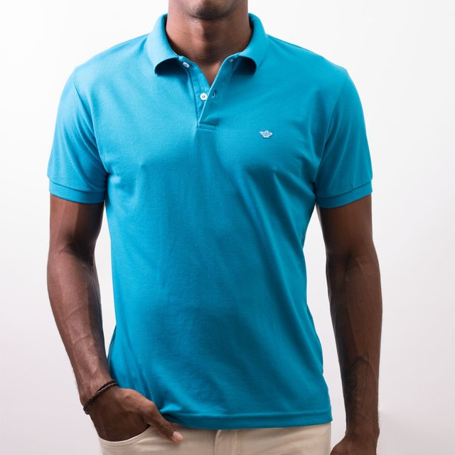 POLO PIQUET BÁSICA COLOR - P45245 - MITCHELL - moda masculina