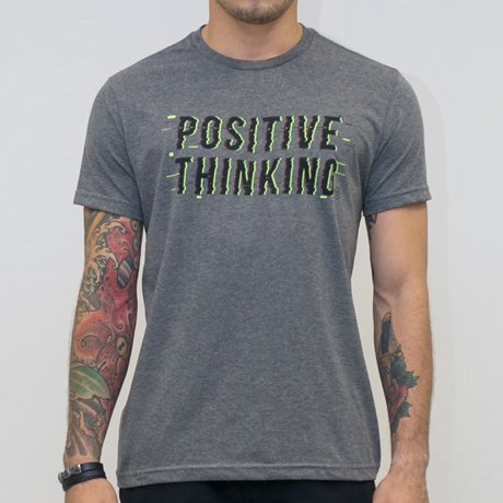T-SHIRT MALHA POSITIVE THINKING