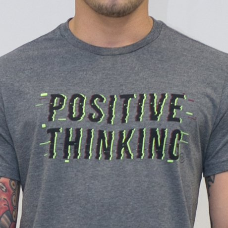 T-SHIRT MALHA POSITIVE THINKING - comprar online