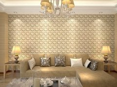 PANEL DECORATIVO 3D PVC REVESTIMIENTO PARED CIRCULOS 50X50 en internet