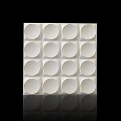PANEL DECORATIVO 3D PVC REVESTIMIENTO PARED CIRCULOS 50X50