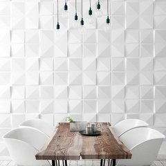 PANEL DECORATIVO 3D PVC REVESTIMIENTO PARED CUADRADOS 50X50 - Bizantina