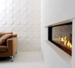 PANEL DECORATIVO 3D PVC REVESTIMIENTO PARED CIRCULOS 50X50 - Bizantina
