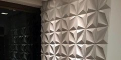 PANEL DECORATIVO 3D PVC REVESTIMIENTO PARED DIAMANTE 50X50 - comprar online