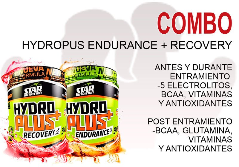 COMBO Hydro Plus Endurance + Hydro Plus Recovery Star Nutrition