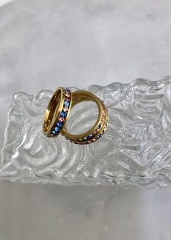 Gold Ring Disco Strass