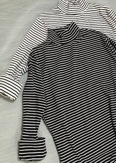 Polera Larga Striped Mor - Estate Atenta