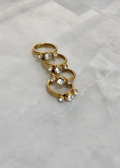 Gold Ring Strass