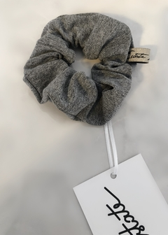 Scrunchies Grey Cotton