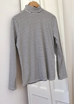 Polera Larga Striped Mor - comprar online