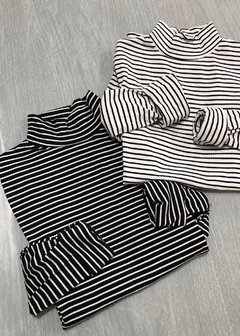 Polera Larga Striped Mor