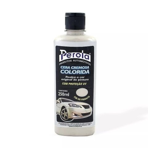 Cera Cremosa Colorida Prata 250ml Pérola