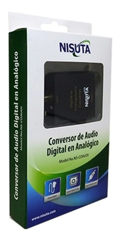 Conversor Audio Digital Nisuta Optico Toslink A Rca 3,5mm Analogico en internet