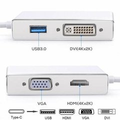 Adaptador Usb Tipo C A Hdmi Vga Dvi Usb Macbook Thunderbolt en internet