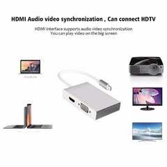 Adaptador Usb Tipo C A Hdmi Vga Dvi Usb Macbook Thunderbolt