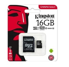 Tarjeta Memoria Micro Sd 16gb Kingston Clase 10 80mb/s