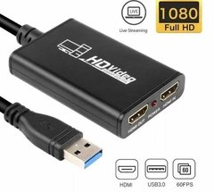 Capturadora Video Hdmi Full Hd 1080p 60 Fps Ps4 Streaming en internet