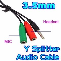 Imagen de Cable Mini Plug 3,5mm 2 X 1 Celular Ps4 A Mic Y Auricular Pc