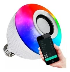 Lampara Led Rgb 220v Parlante Bluetooth Colores Foco - comprar online