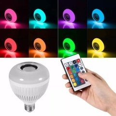 Lampara Led Rgb 220v Parlante Bluetooth Colores Foco - TecnoEshop CBA
