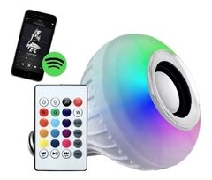 Lampara Led Rgb 220v Parlante Bluetooth Colores Foco en internet