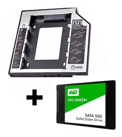 Combo Ssd 240gb Wd Green + Caddy 12,7mm Sata