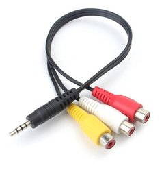 Cable Mini Plug 3.5mm Trrs A 3 Rca Hembra Audio Video Ht