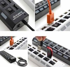 Hub Usb 7 Puerto Extension Multiplicador Switch Luces - tienda online