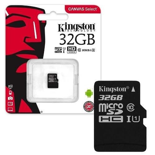 Tarjeta Memoria Micro Sd 32gb Kingston Clase 10 80mb/s en internet