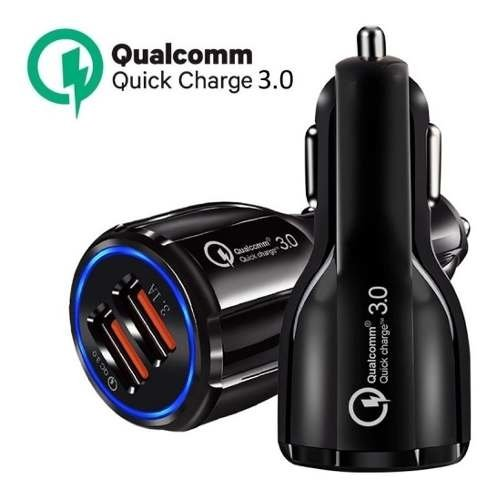 Cargador Auto 12v Qualcomm 3.0 Carga Rapida Quick Charge