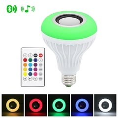Lampara Led Rgb 220v Parlante Bluetooth Colores Foco