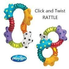 sonajero mordillo playgro click and twist rattle en internet