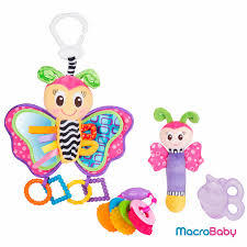 sonajeros en pack playgro butterfly fun pack